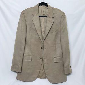 Jos A Bank Silk & Camelhair Harris Tweed Coat
